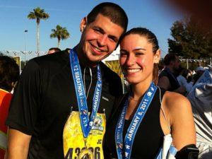 Jc and Lauren at Disney Marathon