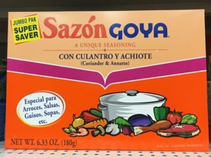 Sazon Goya Box